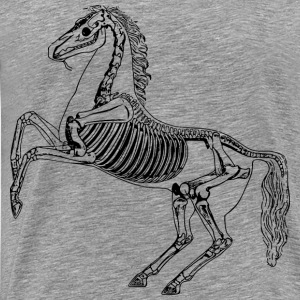 Horse skeleton - Men's Premium T-Shirt