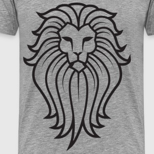 Lion Face Tattoo - Men's Premium T-Shirt