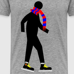 Skater with Scarf - Men's Premium T-Shirt