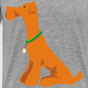 Orange Dog Sitting - Men's Premium T-Shirt
