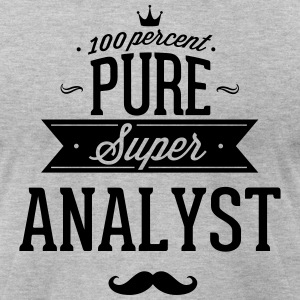 100 percent pure super analyst T-Shirts - Men's T-Shirt by American Apparel