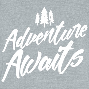 adventure-awaits T-Shirts - Unisex Tri-Blend T-Shirt by American Apparel