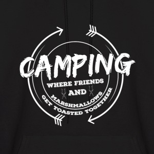 Camping where Friends And Marashmallows Hoodie - Men's Hoodie