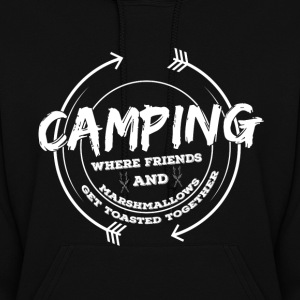 Camping...Friends And Marashmallows women Hoodie - Women's Hoodie