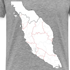 Blank map of Peninsular Malaysia (fixed and update - Men's Premium T-Shirt