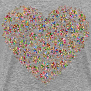 Iridescent Petals Heart - Men's Premium T-Shirt