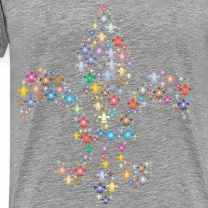 Colorful Fleur De Lis Fractal 2 - Men's Premium T-Shirt