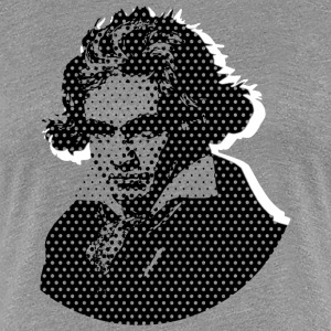 Beethoven in Dots Black T-Shirts - Women's Premium T-Shirt