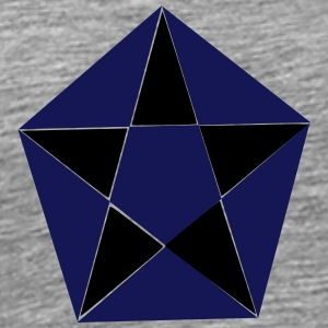 the hexagon in star - Men's Premium T-Shirt