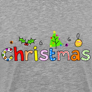 Christmas Typography - Men's Premium T-Shirt