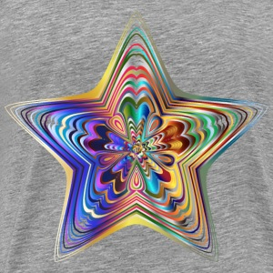 Prismatic Star Line Art 6 No Background - Men's Premium T-Shirt