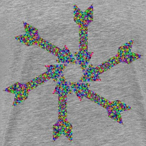Prismatic Low Poly Arrow Art 2 - Men's Premium T-Shirt