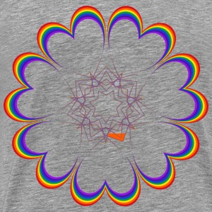 Rainbow Heart Star - Men's Premium T-Shirt