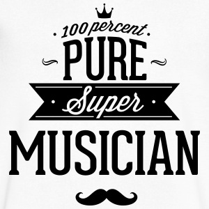 100 percent pure super musician T-Shirts - Men's V-Neck T-Shirt by Canvas