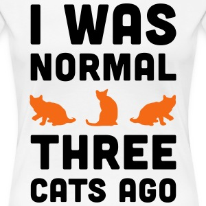 Three Cats Ago Funny Quote T-Shirts - Women's Premium T-Shirt