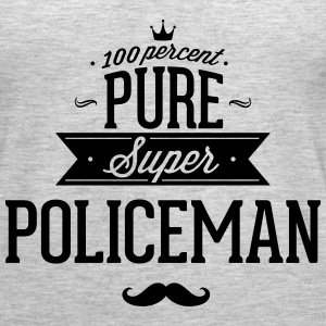 100 percent pure super policeman Tanks - Women's Premium Tank Top
