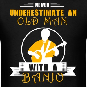 Old Man With Banjo Shirt - Men's T-Shirt