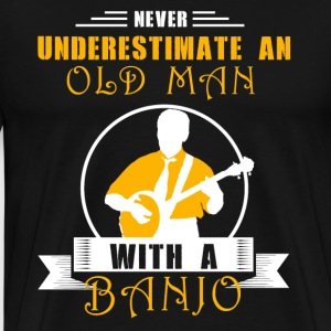 Old Man With Banjo Shirt - Men's Premium T-Shirt