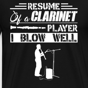 Clarinet Player I Blow Well - Men's Premium T-Shirt