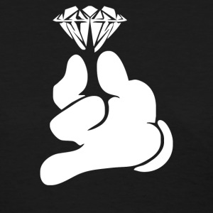 Cartoon Hands HOLDING Diamond - Women's T-Shirt