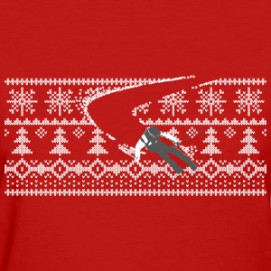 skiing through pattern T-Shirts - Women's T-Shirt