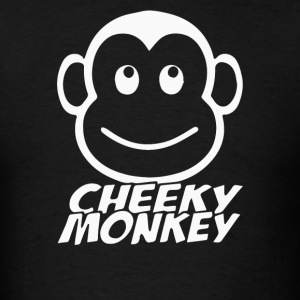 Cheeky Monkey Funny - Men's T-Shirt