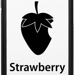 Strawberry (black) Phone & Tablet Cases - iPhone 6/6s Rubber Case