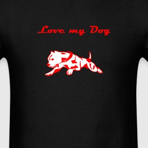 Love my dog Men's T-shirt - Men's T-Shirt