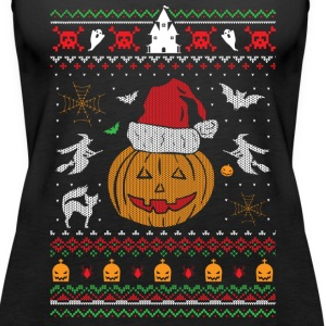 Ugly Christmas Sweater Halloween Edition Tanks - Women's Premium Tank Top