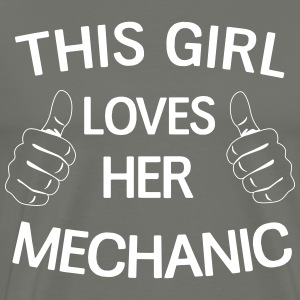 This girl loves her mechanic T-Shirts - Men's Premium T-Shirt