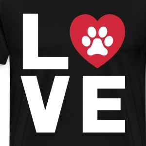 Animal Lover Dog Paw Print Love Dogs My Best Friend T-Shirts - Men's Premium T-Shirt