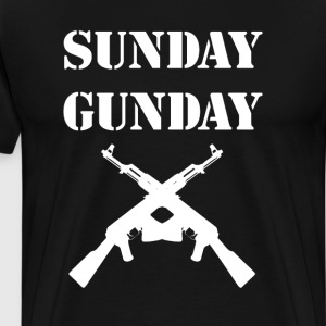 Sunday Gunday Funny Suns Out Guns Out Gun Rights T-Shirts - Men's Premium T-Shirt