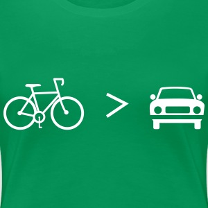 Bike is Greater than the car T-Shirts - Women's Premium T-Shirt