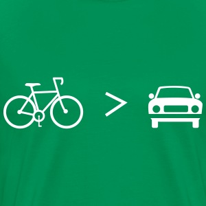 Bike is Greater than the car T-Shirts - Men's Premium T-Shirt