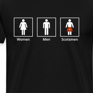Women Men Scotsman Funny Bathroom Sign St Pattys Day T-Shirts - Men's Premium T-Shirt