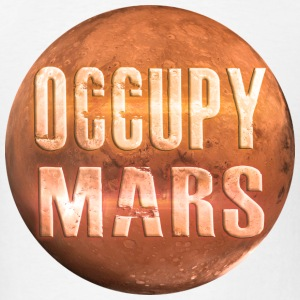 Occupy Mars White T-Shirt ~ by Nic [NEW] - Men's T-Shirt