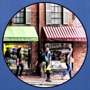 Boston MA - Street With Candy Store and Bakery Bags & backpacks - Tote Bag
