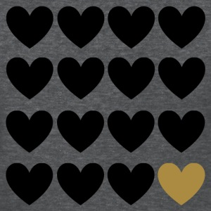 Sweet black and gold heart Women's T-Shirts - Women's T-Shirt