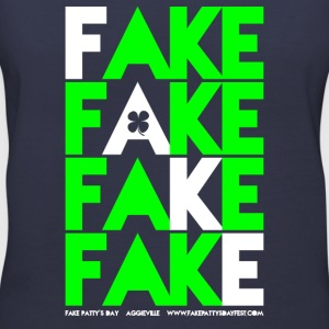 Ladies FAKE FAKE FAKE FAKE Graphic V-Neck - Women's V-Neck T-Shirt