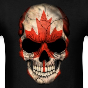 Canadian Flag Skull T-Shirts - Men's T-Shirt