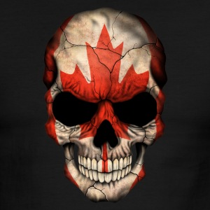 Canadian Flag Skull T-Shirts - Men's Ringer T-Shirt