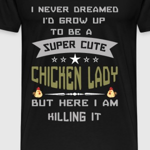 CHICKEN LADY - Men's Premium T-Shirt