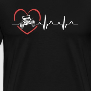 Jeep Heartbeat Shirts - Men's Premium T-Shirt