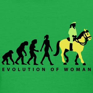 evolution_female_cop_on_horse_09_201601_ T-Shirts - Women's T-Shirt