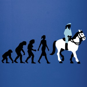 evolution_female_cop_on_horse_09_201602_ Mugs & Drinkware - Full Color Mug