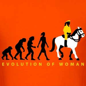 evolution_female_cop_on_horse_09_201603_ T-Shirts - Men's T-Shirt