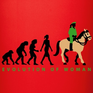 evolution_female_cop_on_horse_09_201603_ Mugs & Drinkware - Full Color Mug