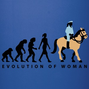 evolution_female_cop_on_horse_09_201601_ Mugs & Drinkware - Full Color Mug