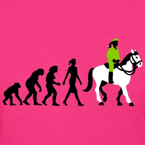 evolution_female_cop_on_horse_09_201602_ T-Shirts - Women's T-Shirt