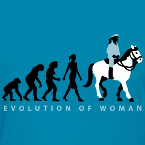 evolution_female_cop_on_horse_09_201603_ T-Shirts - Women's T-Shirt